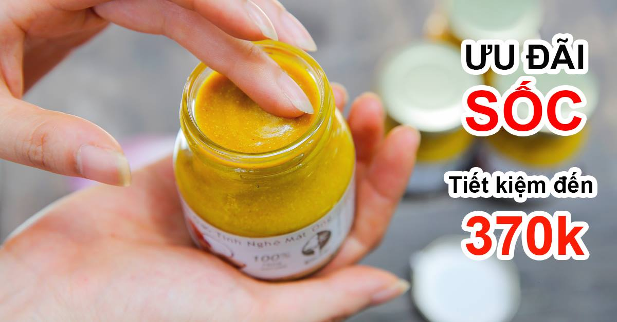 Kem gạo tinh nghệ mật ong